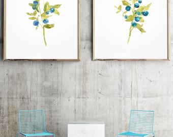 Set of 2, Green Plant Art, Herb print set, Botanical poster, Botanical print set, Love Decor green, Indoor Print, Herb print, Indoor Plants.