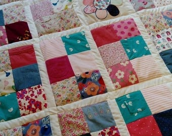 Memory Keepsake Quilt - Baby clothes quilt, patchwork quilt, memory quilt, handmade quilt, clothing keepsake, memory blanket, keepsake quilt