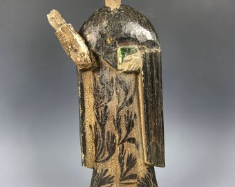 19th Century Carved Wood Religious Saint Paul Statue