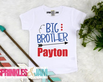 Big Brother Shirt, Promoted to Big Brother, Big Brother Little Brother Outfit, Pregnancy Announcement Shirt, Boys Shirts, New Baby