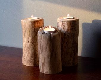 Driftwood Tealight candle holder