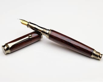 Luxury Mexican Cocobolo wood fountain pen