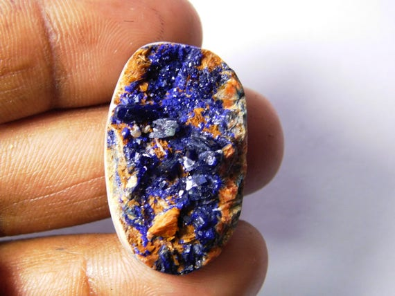 Piedra preciosa Azurita Druzy