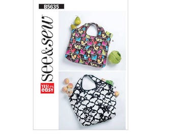 See & Sew B5635 - Self-Storing Shopping Bags