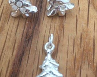 Sale - Silver Christmas tree, charm, Christmas tree pendant, Christmas Tree, Silver Xmas tree charm, Xmas tree, charm, Christmas, Jewellery