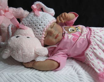Reborn Baby Doll MADE TO ORDER Realborn Sleeping Kimberly Sculpt Handmade Art Babies