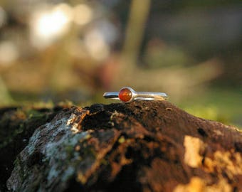 Carnelian, size 54 or US 7 ring