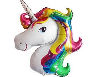 Unicorn Balloon for Kid's Birthday - Rainbow | Unicorn Party Theme | Birthday party, kid's birthday party, baby showers