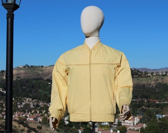 Vintage Yellow Windbreaker Jacket