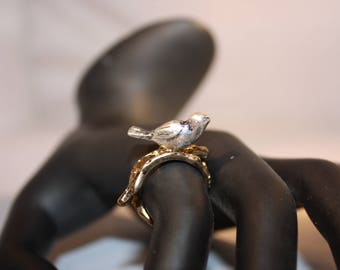 Two Toned Bird Ring