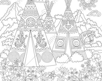 native american tipi coloring pages - photo#20