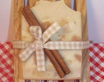 Apple Cinnamon and Oatmeal Hand Crafted Soap/Valentine gift/Gift for her