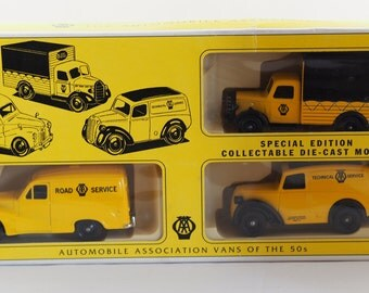 Lledo 1950s AA Van Collectable Limited Edition Diecast Set of 3
