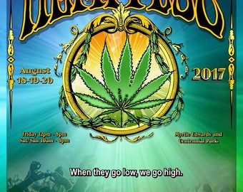 2017, Kick Down For The Cause Poster by Seattle HEMPFEST®