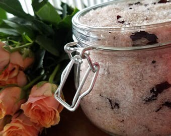 Rose Bath Salts ~ 16oz jar