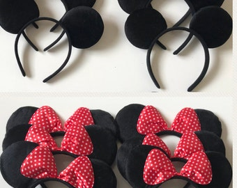 Mickey Minnie Mouse ears Lot of 12