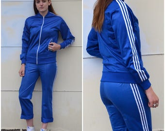1970s Sears Track Suit, Blue Kings Road Track suit, Athleic Two Piece Jumpsuit