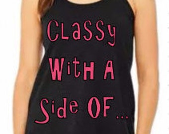 Classy with a side of....Sassy!, Mother Daughter Matching Tanks