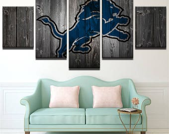 Detroit Lions Canvas Etsy