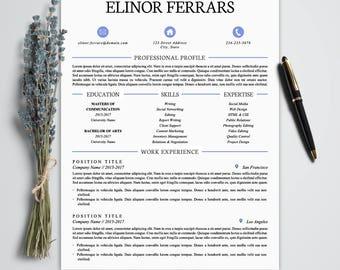 Elegant resume | Etsy