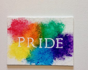 Pride art, LGBTQ art, rainbow art, rainbow decor, lgbt pride art,