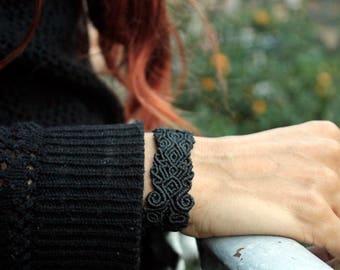 Macrame Black Bracelet