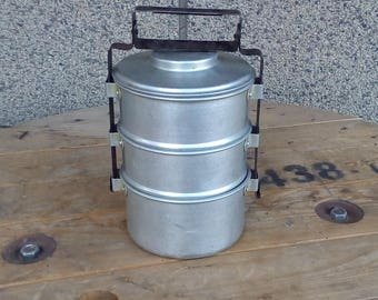 vintage metal containers set of 3 food containers food storage food boxes - Metal Storage Containers