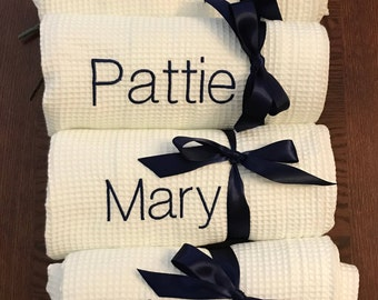 Bridesmaids Gift, Spa Wrap, Towel Wrap, Waffle Towel Wrap, Monogram Towel  Wrap