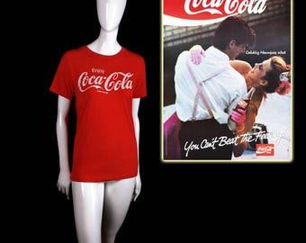 Early 1980's Coca-Cola T-Shirt (XS/S) Super Soft!!!