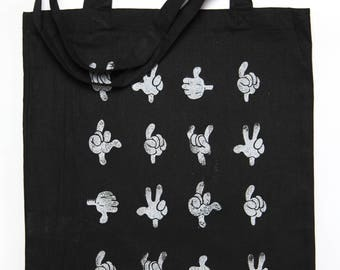 Tote Bag sign language (black)