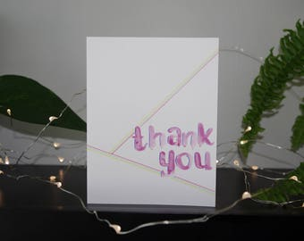 Thank You Card | Appreciation Card | Watercolour Card | Handmade Card | Blank Card