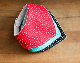 BANDANA BIB - set of 3 baby bandana bibs, baby bibs, gender neutral bibs, baby shower gift, modern baby