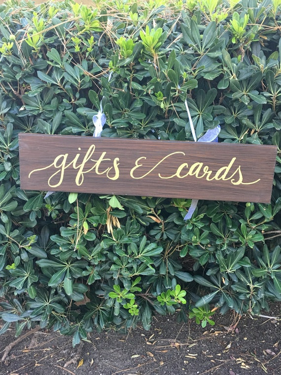 Stained Gifts and Cards wooden wedding sign