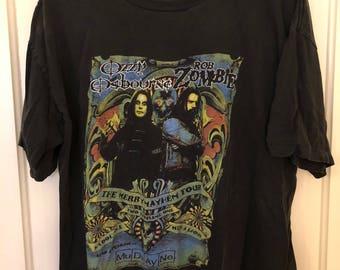 Vintage Ozzy Osbourne + Rob Zombie tee