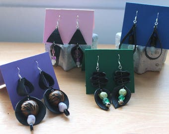 Bicycle inner tube earrings