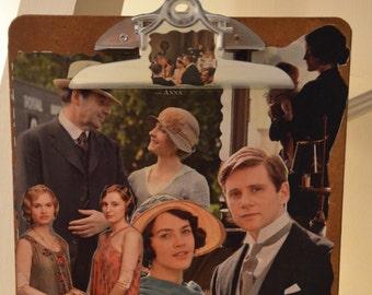 Downton Abbey Decoupaged Clipboard