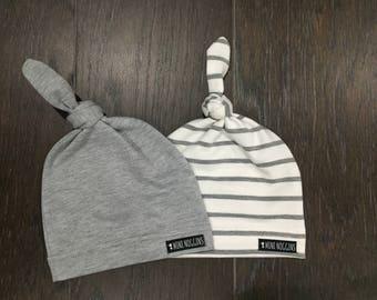 COMBO Beanie Set | Unisex Newborns Infants Baby Soft Cotton Knot Beanie, Newborn Beanie Sleep Cap, Baby Hat, Baby Beanie, Beanies for Babies