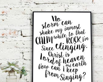 Hymnal Print  | How Can I Keep From Singing  {DIGITAL FILE}