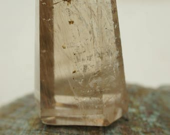 Golden Rutilated Quartz Polished Point - for Home Decor or Metaphysical