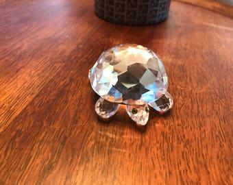 Swarovski Silver Crystal Turtle