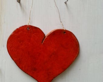 Ceramic Heart for hanging