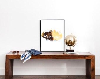 Melbourne Gold Foil Print