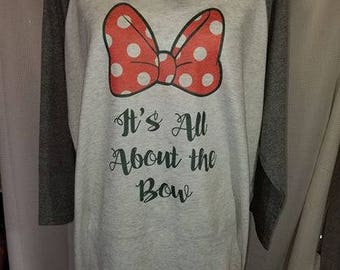 It's All About the Bow Raglan Tee