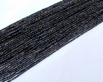 Mystic Black Spinel Faceted Rondelles beads with an amazing quality(mystic black) , 3 mm to 3.5 mm , 13 inch strand approx