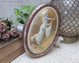 Charming antique advertising TJOKLAT tin can Candy storage box Camée Pastilles Chocolate candy box