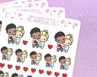 Couple Planner Stickers, Boyfriend Stickers, Girlfriend Stickers, Date Night Sticker, Date Stickers, Love Stickers (BAE001)