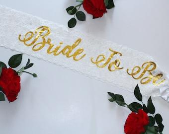 Bride Sash Wedding Sash Bachelorette sash Bridesmaid gift Bride Gift Bridal party bride to be bachelorette Custom sash Plus Size Bride