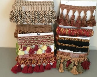Mixed Lot Decorative Piping,Wholesale, Bulk Upholstery Piping,Pillow Piping and Fringe,Sewing Project Pieces