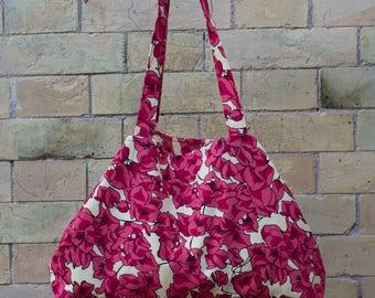 beach bag LADY ' in bougainvillea Fuchsia cotton