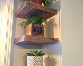 Wood Floating Shelf (floating shelves, storage shelf, wood shelves, wood shelf, kitchen shelf, shelving, floating shelf)